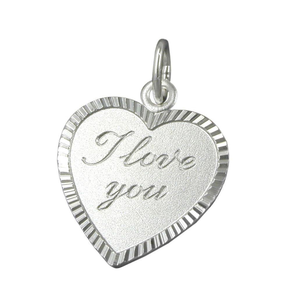 Anhänger, Herz -I love you- Silber 925