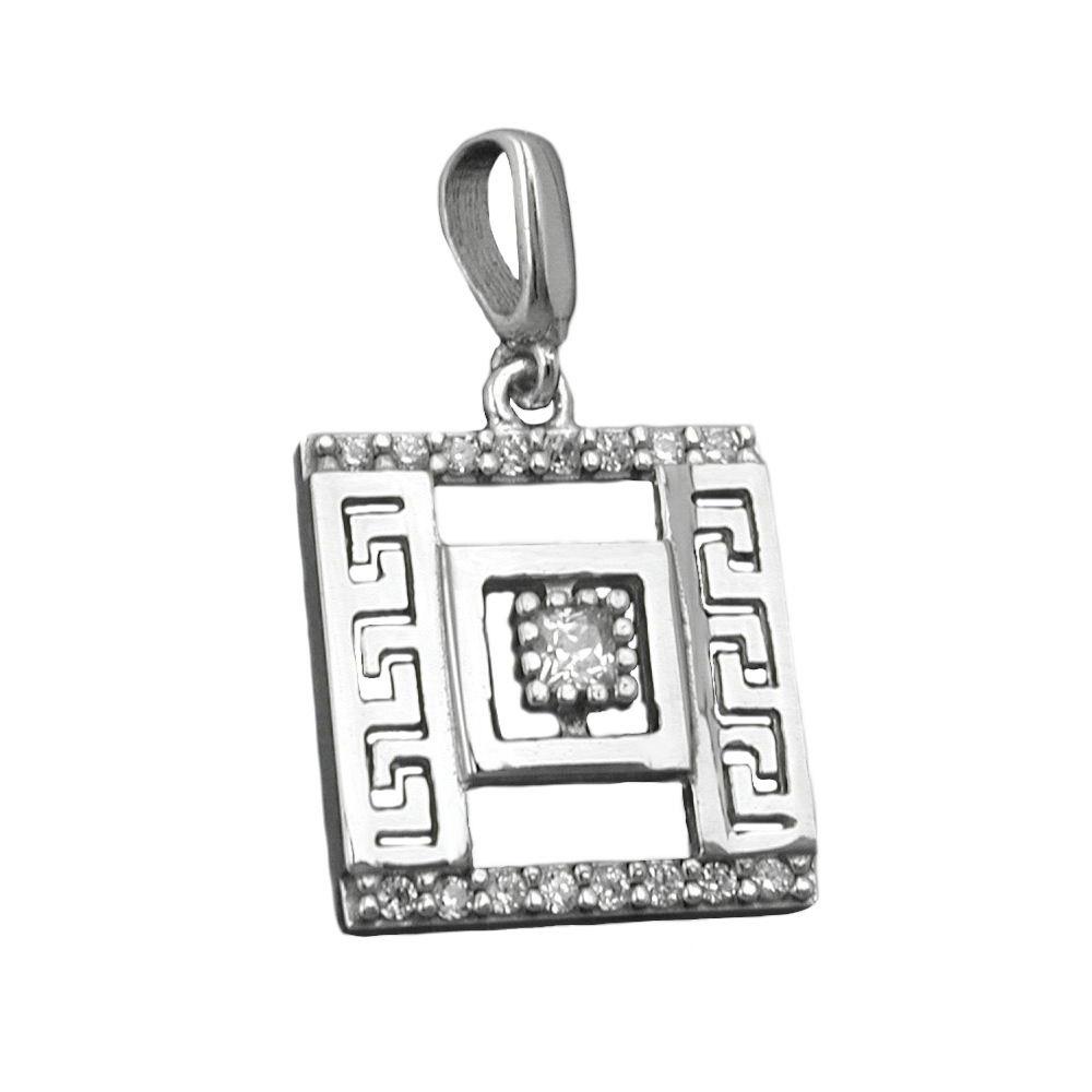 Anhänger, römisches Muster, Silber 925