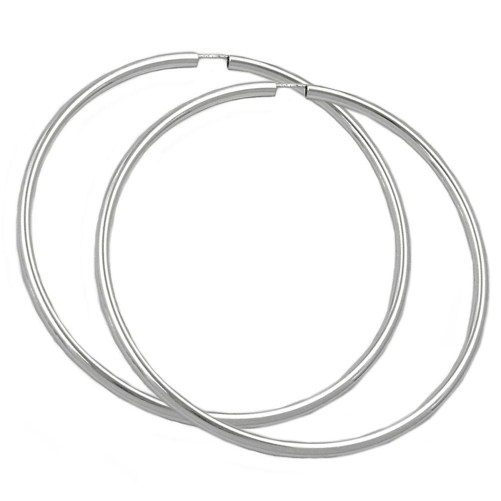 Creolen, 70mm, glänzend, Silber 925