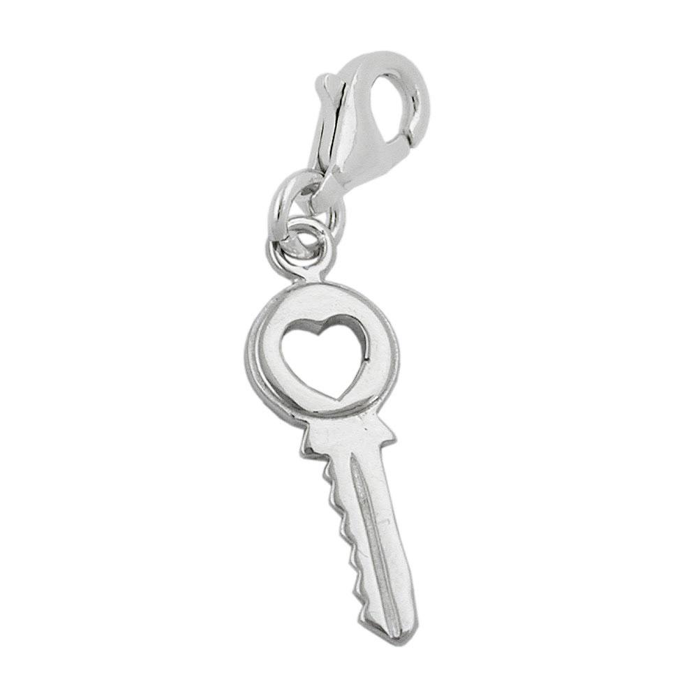 Charm, Schlüssel, Silber 925