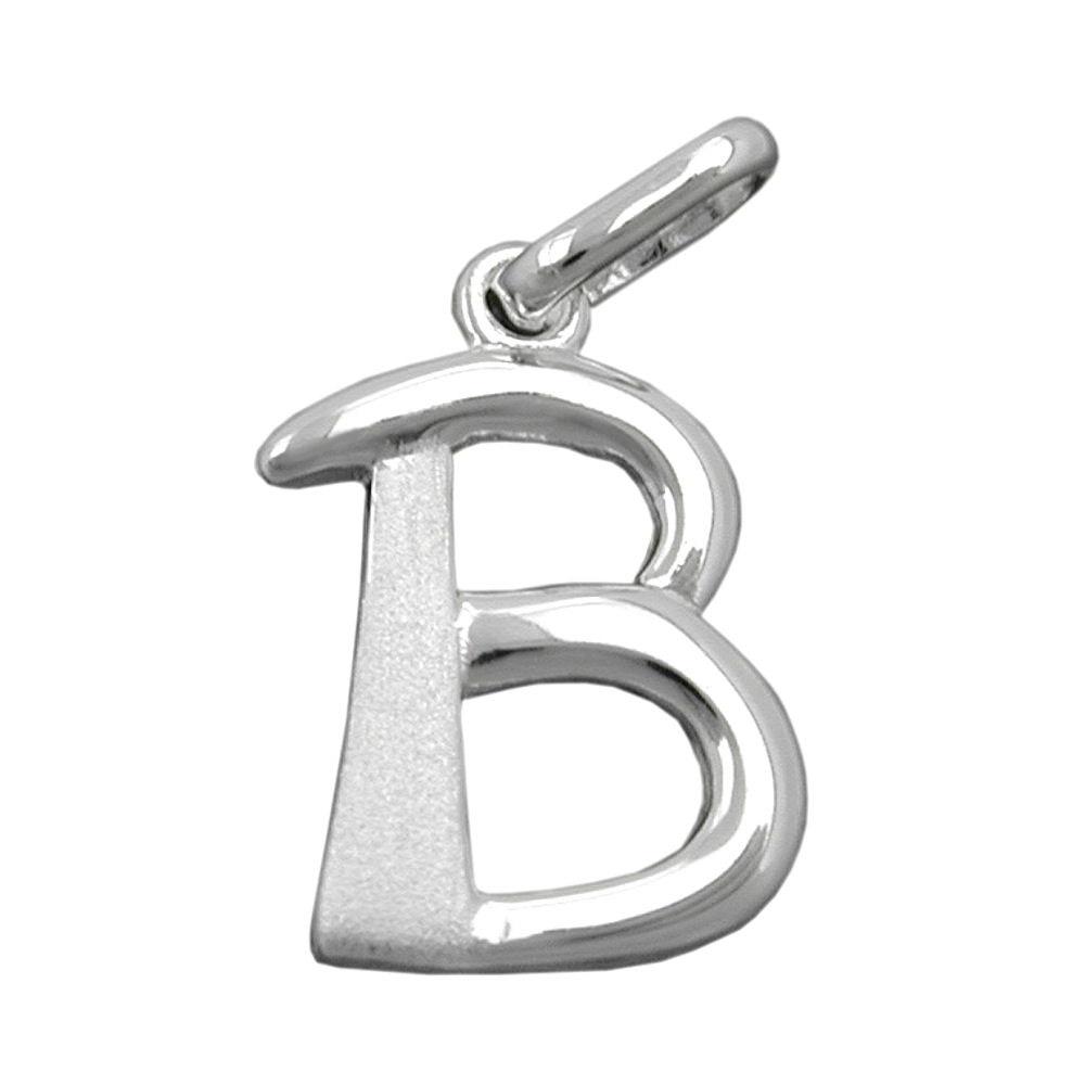 Anhänger, Buchstabe B, Silber 925