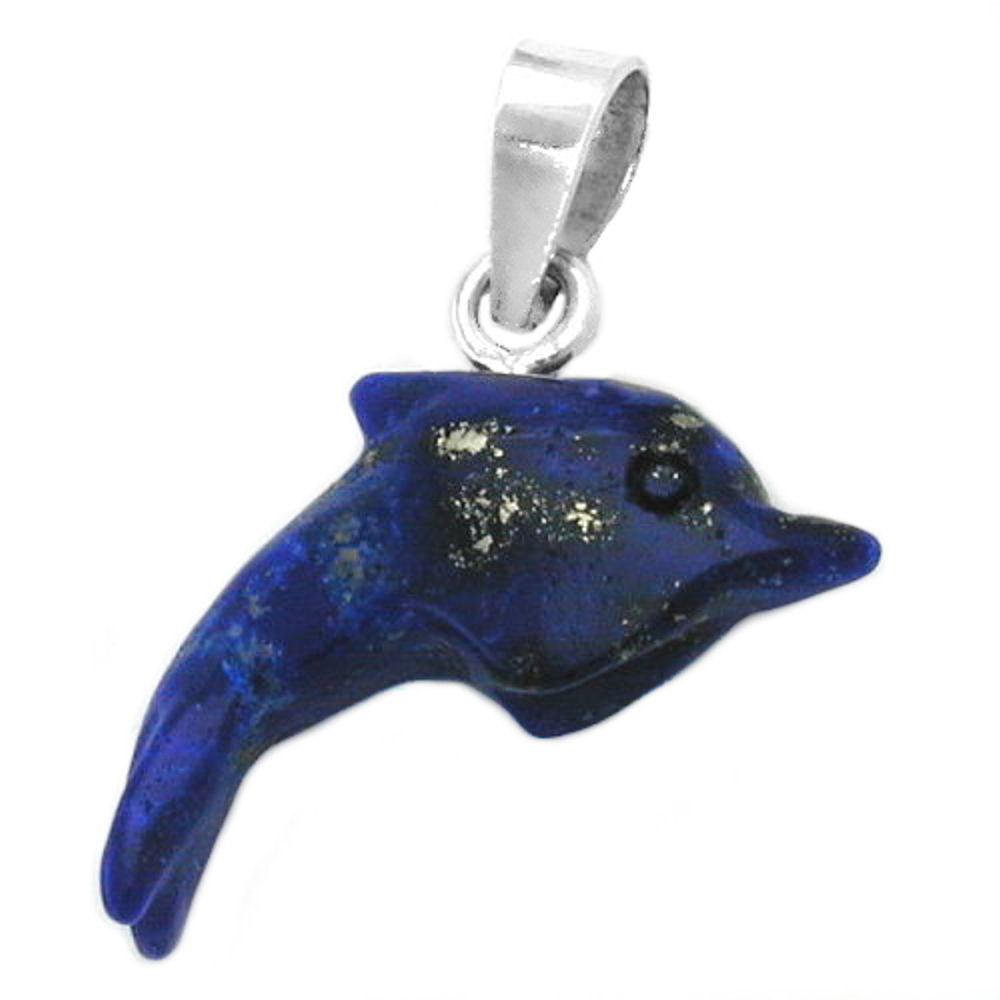 Anhänger Delfin Lapis-Perle Silber 925