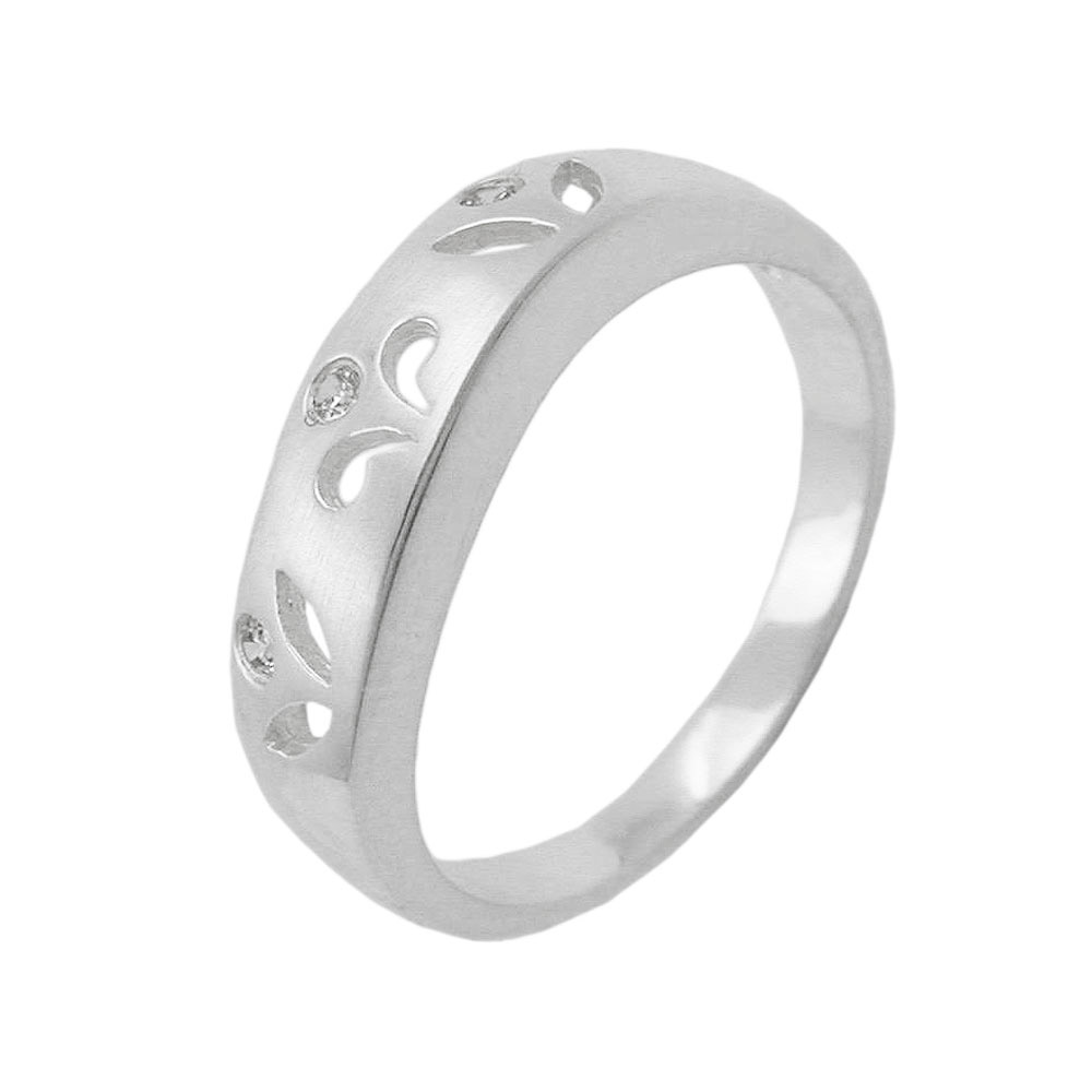 Ring, matt, mit 3x Zirkonia, 925
