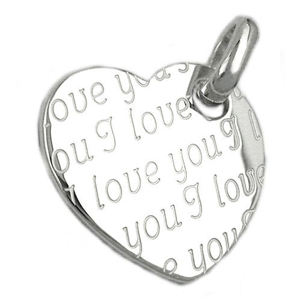 Anhänger, Herz I love you, Silber 925