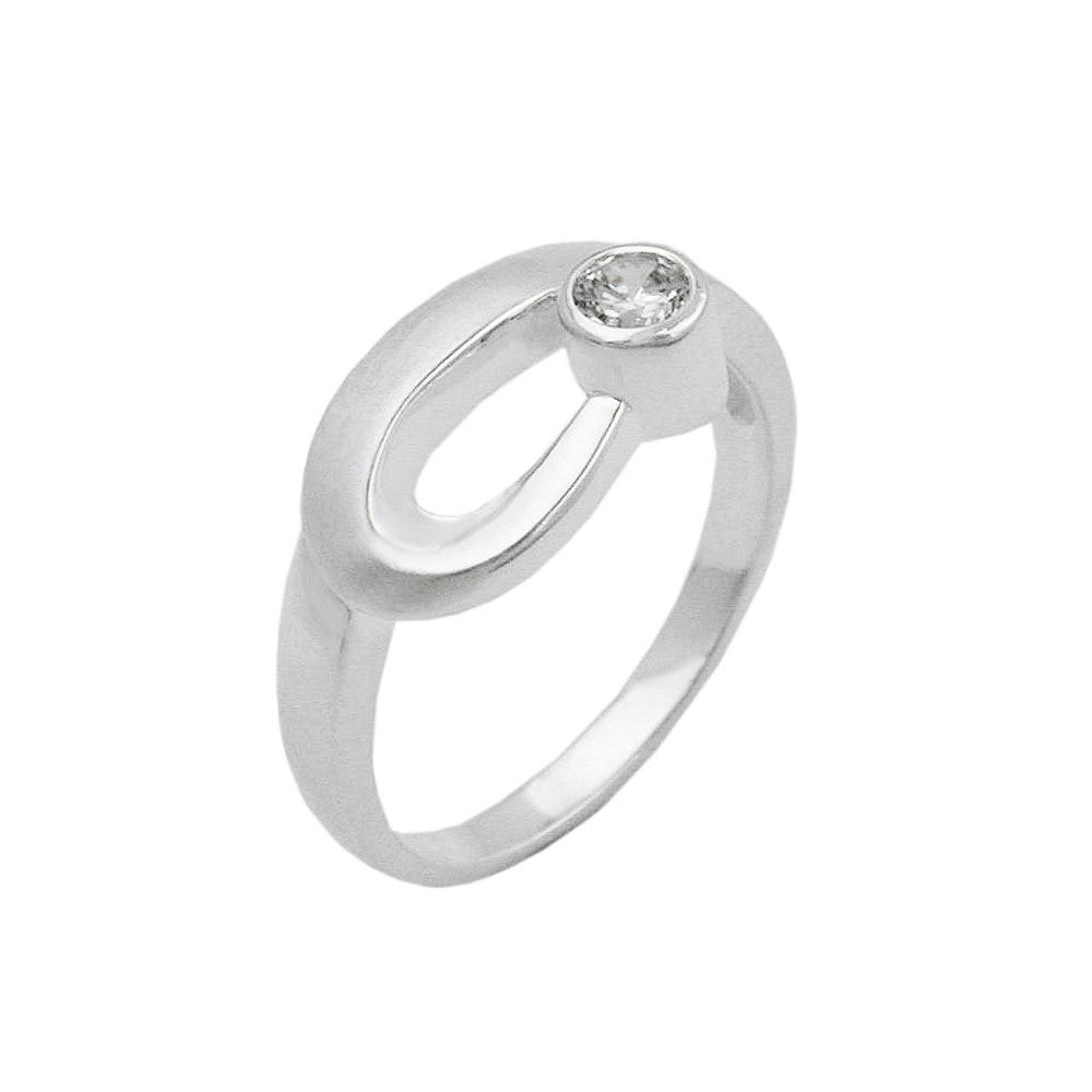 Ring, 9mm, Zirkonia gefasst, Silber 925
