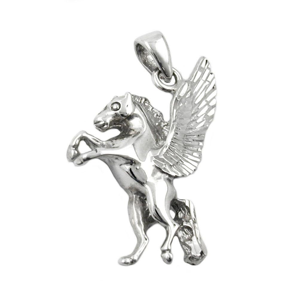 Anhänger Pferd mit Flügel, Silber 925