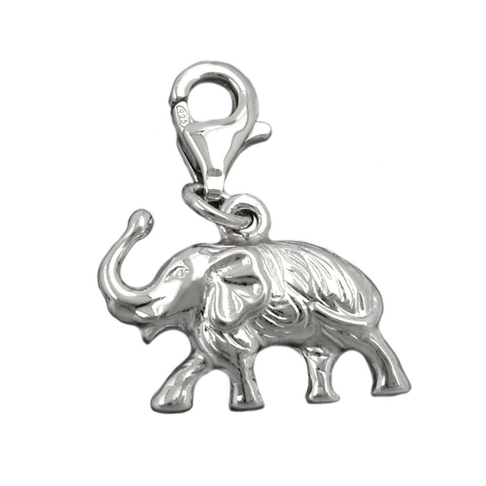 Charm, Elefant, Silber 925