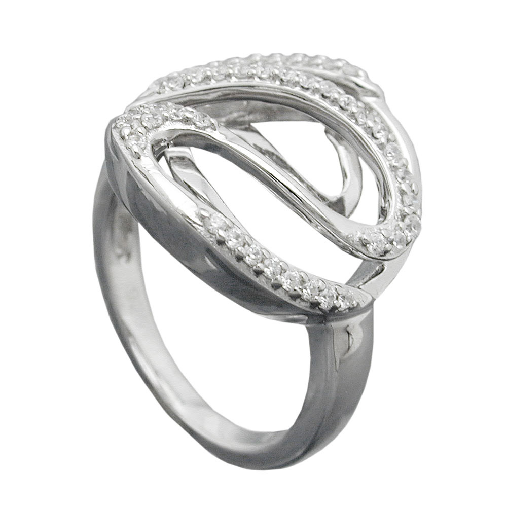 Ring, mit vielen Zirkonia, Silber 925