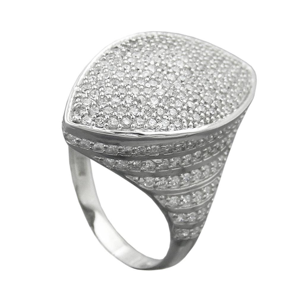 Ring mit vielen Zirkonia, Silber 925