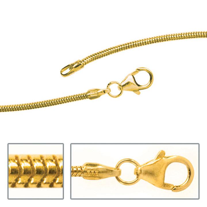 Schlangenkette 333 Gelbgold 1,4 mm 40 cm Gold Kette Halskette Goldkette