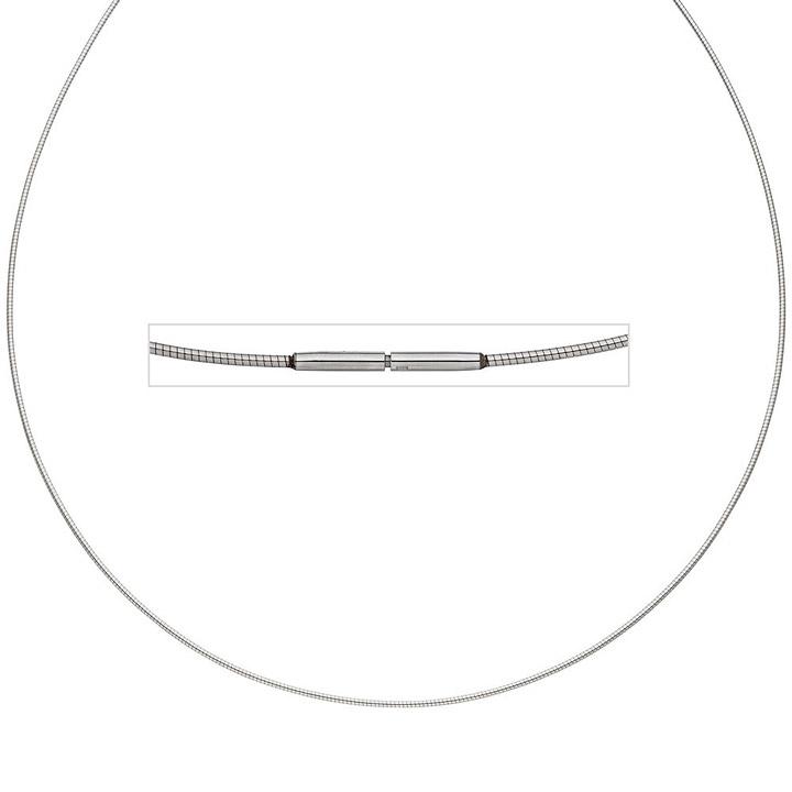 Halsreif Edelstahl 1,0 mm 42 cm Halskette Kette
