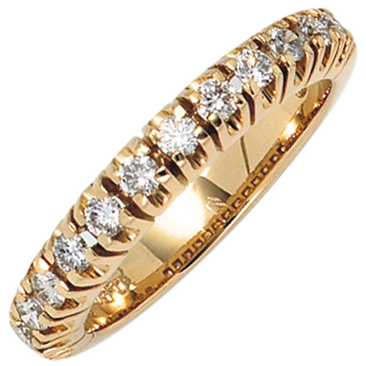 Damen Ring 585 Gold Gelbgold 13 Diamanten Brillanten 0,50ct. Goldring