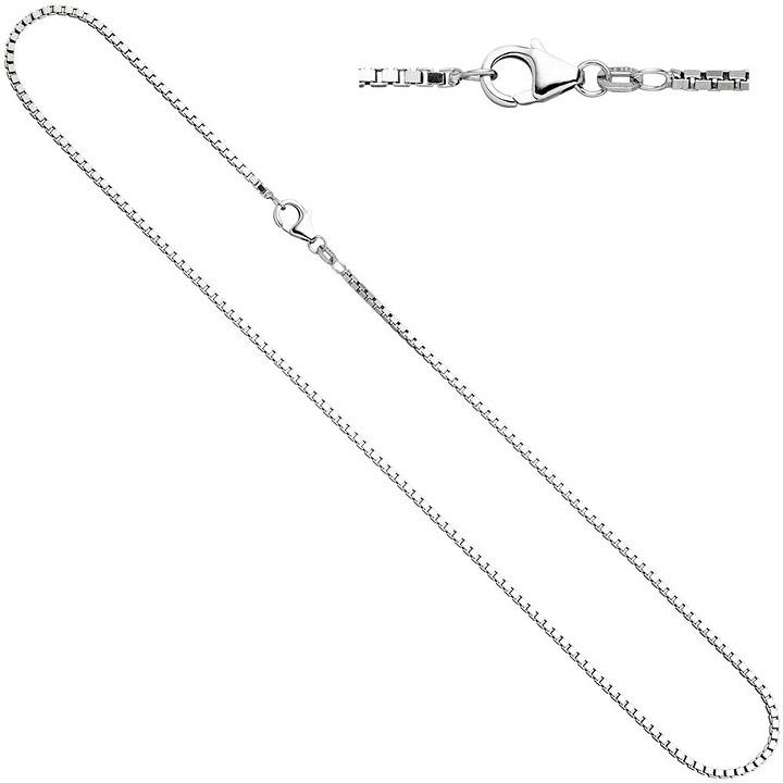 Venezianerkette 925 Silber diamantiert 1,2 mm 40 cm Halskette Kette Karabiner
