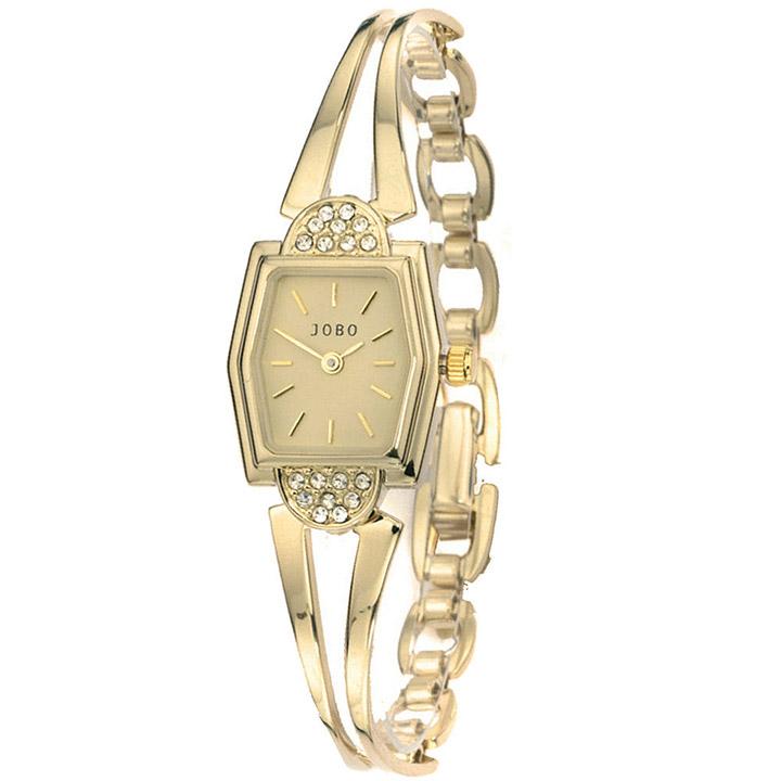 Damen Armbanduhr Quarz Analog vergoldet Damenuhr eckig