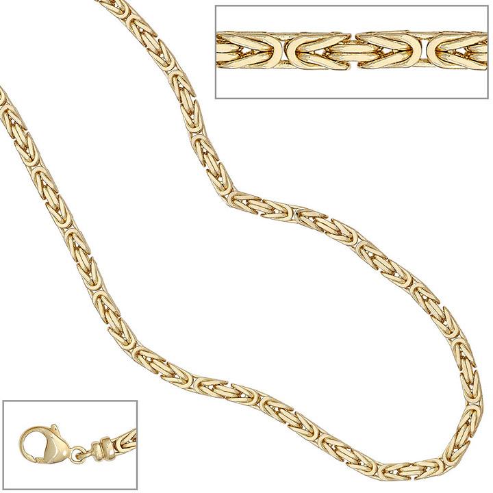 Königskette 333 Gelbgold 3,2 mm 42 cm Gold Kette Halskette Goldkette Karabiner