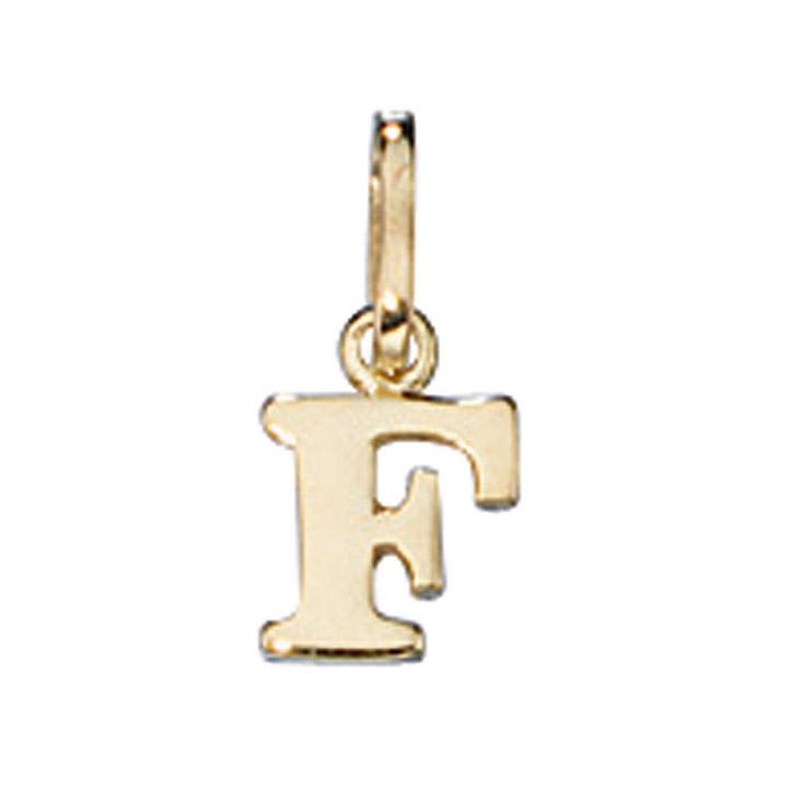 Anhänger Buchstabe F 333 Gold Gelbgold Buchstabenanhänger