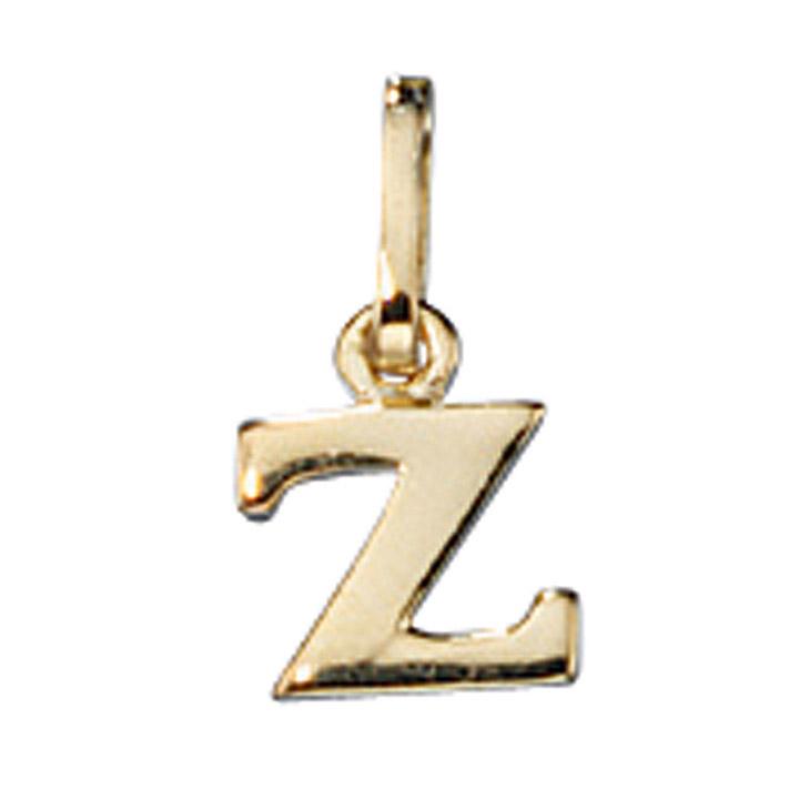Anhänger Buchstabe Z 333 Gold Gelbgold Buchstabenanhänger