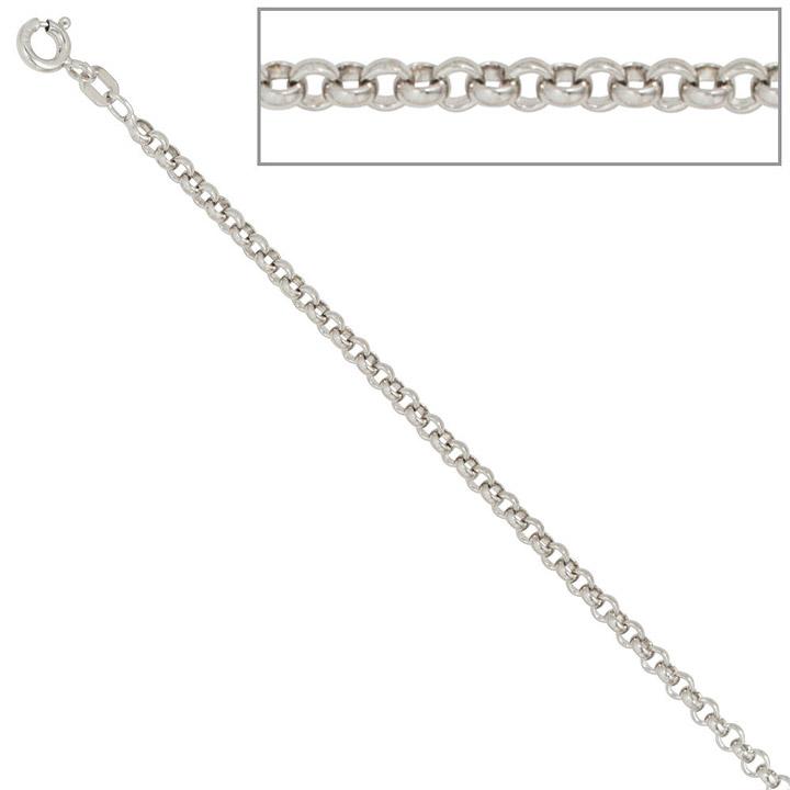 Erbskette 925 Sterling Silber 2,5 mm 70 cm Halskette Kette Silberkette Federring