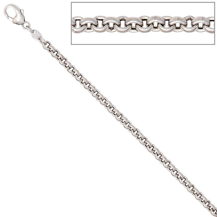 Erbskette 585 Weißgold 3 mm 45 cm Gold Kette Halskette Weißgoldkette Karabiner