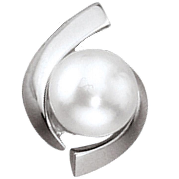 Anhänger 333 Gold Weißgold 1 Süßwasser Perle Perlenanhänger