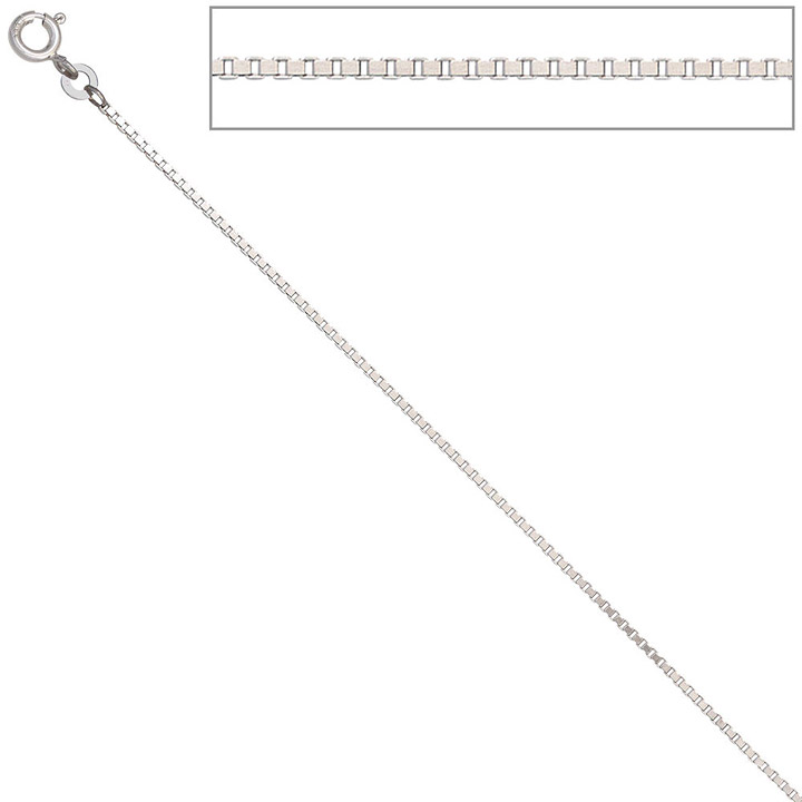 Venezianerkette 333 Weißgold 1,2 mm 36 cm Gold Kette Halskette Weißgoldkette