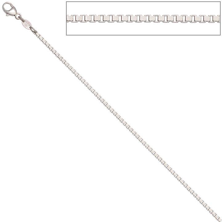 Venezianerkette 585 Weißgold 1,5 mm 38 cm Gold Kette Halskette Weißgoldkette
