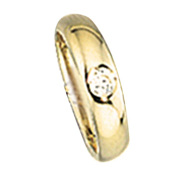 Kinder Taufring 333 Gold Gelbgold 1 Zirkonia Taufanhänger