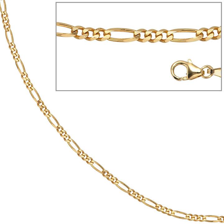 Figarokette 333 Gelbgold 2,8 mm 42 cm Gold Kette Halskette Goldkette Karabiner