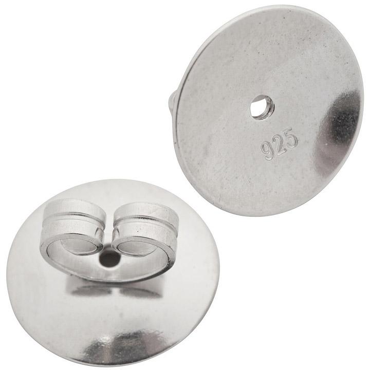 Tellerpoussetten 925 Sterling Silber rhodiniert Pousetten Silberpousetten