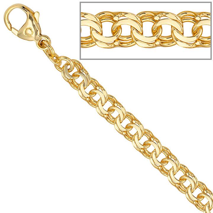 Garibaldiarmband 585 Gold Gelbgold 19 cm Armband Goldarmband Karabiner