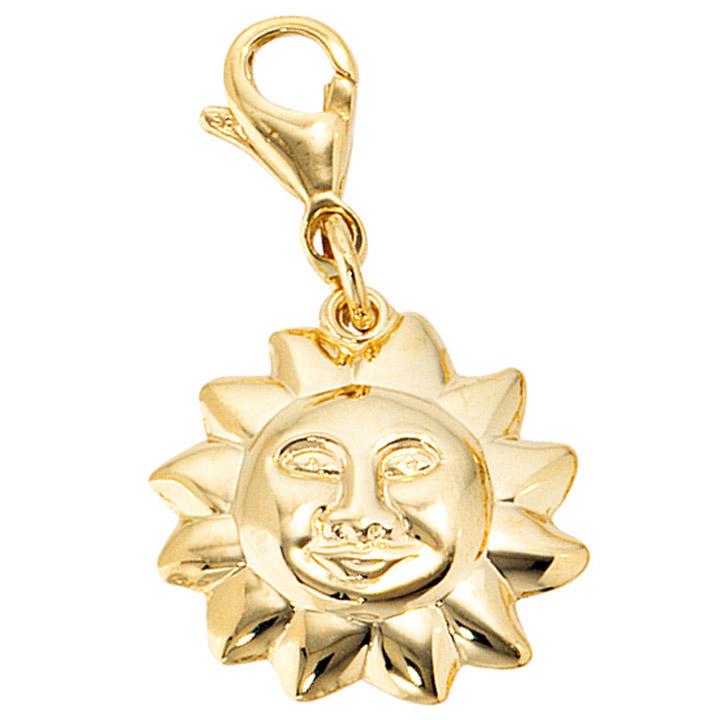 Einhänger Charm Sonne 333 Gold Gelbgold