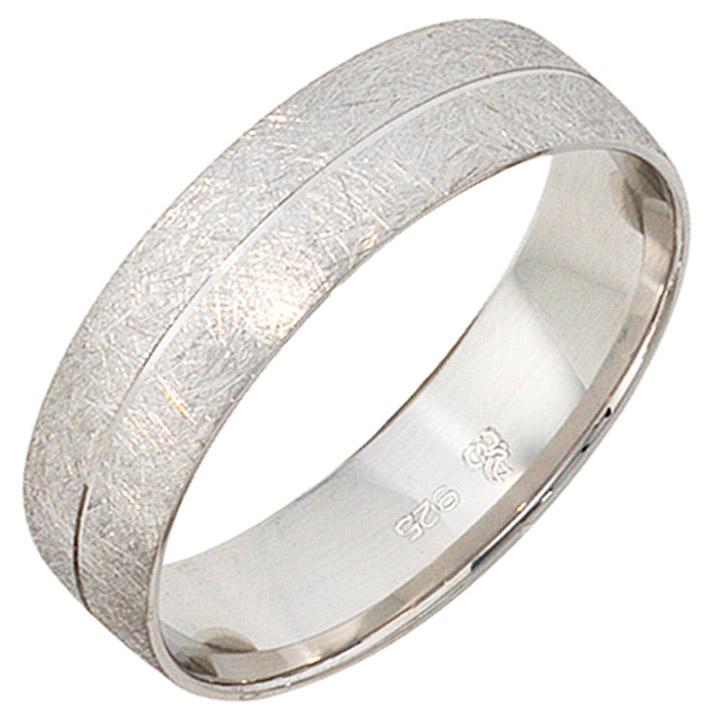 Partner Ring 925 Sterling Silber rhodiniert eismatt Silberring