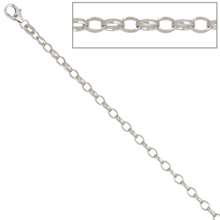 Ankerkette 925 Silber 3,0 mm 60 cm Halskette Kette Silberkette Karabiner
