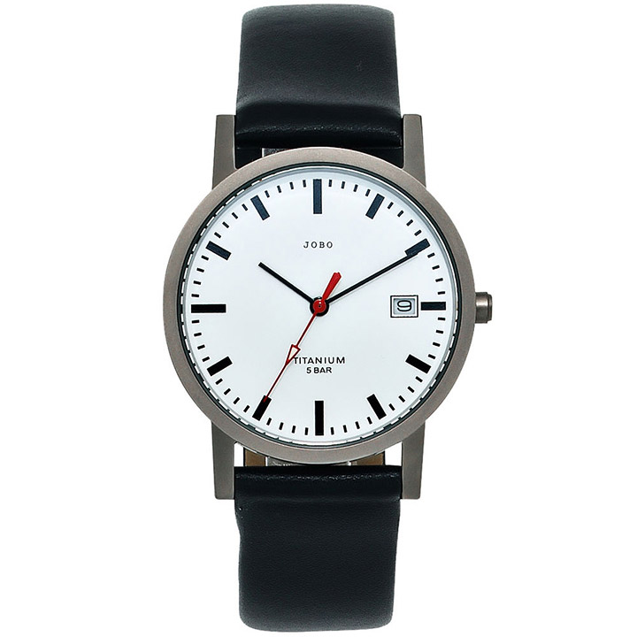 Damen Armbanduhr Quarz Analog Titan Leder Datum Damenuhr