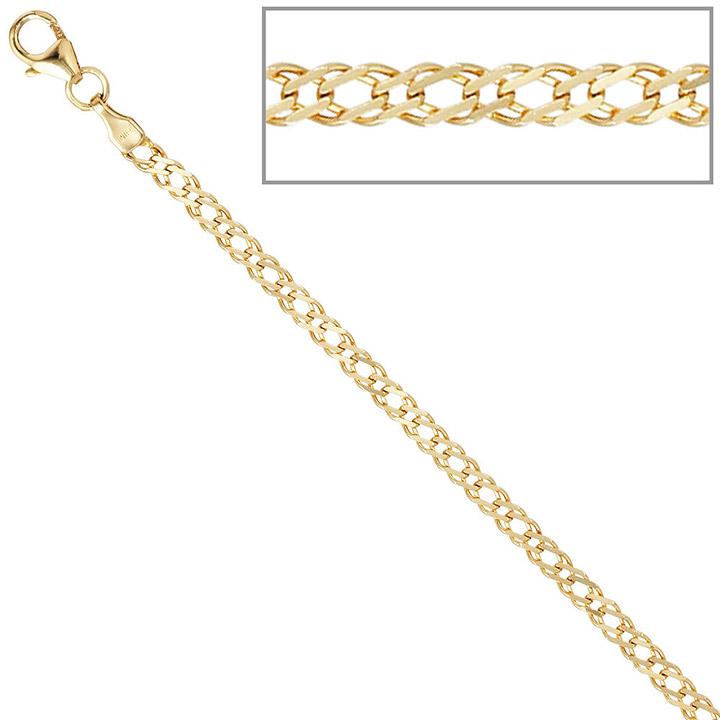 Zwillings-Panzerarmband 333 Gelbgold 19 cm Gold Armband Goldarmband Karabiner
