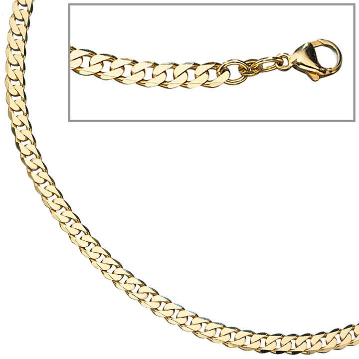 Panzerarmband 333 Gelbgold 19 cm Gold Armband Goldarmband Karabiner