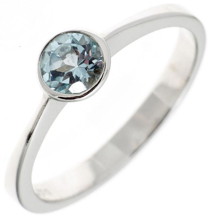 Damen Ring 925 Sterling Silber 1 Blautopas hellblau blau Silberring