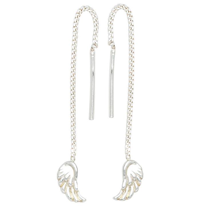 Durchzieh-Ohrhänger Flügel Engelsflügel 925 Silber Ohrringe zum Durchziehen