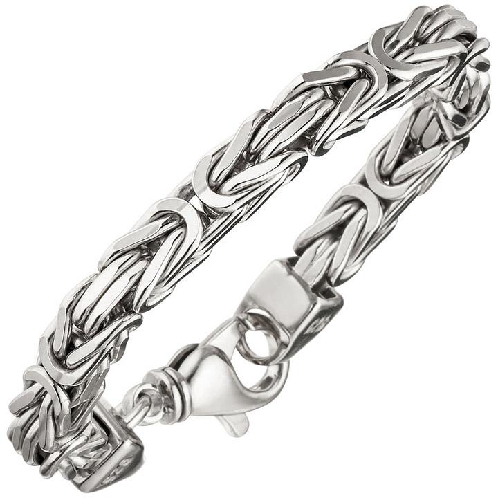 Königsarmband 925 Sterling Silber 20 cm Armband Silberarmband Karabiner