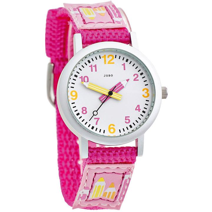 Kinder Armbanduhr pink Quarz Analog Aluminium Edelstahlboden Kinderuhr