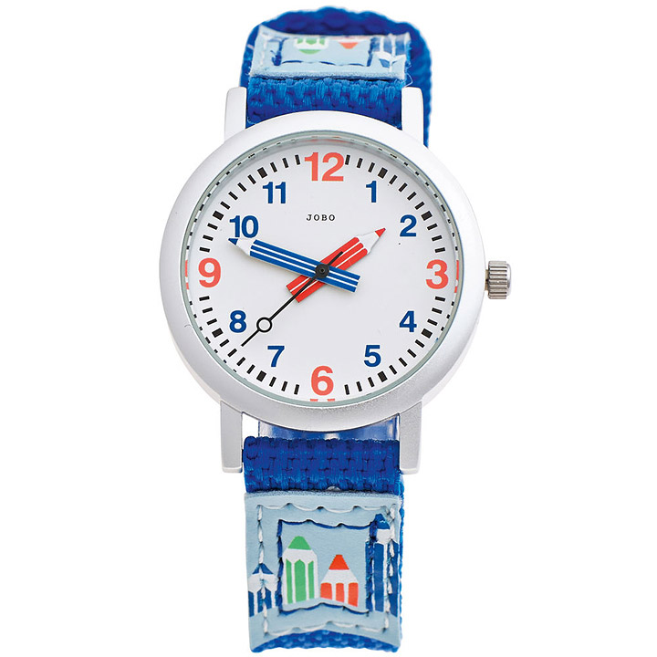 Kinder Armbanduhr helllbau blau Quarz Analog Aluminium Kinderuhr