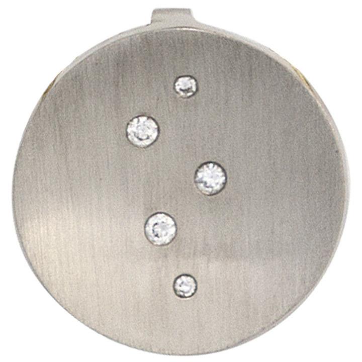 Anhänger rund 950 Platin matt 5 Diamanten Brillanten 0,05ct. Platinanhänger