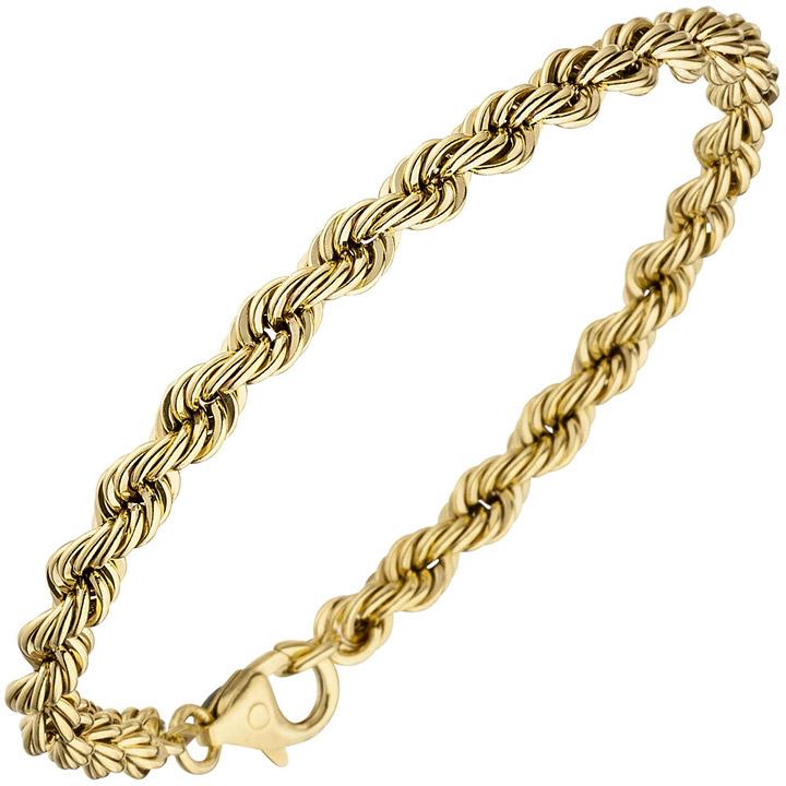 Kordelarmband 333 Gold Gelbgold 19 cm Armband Goldarmband Karabiner