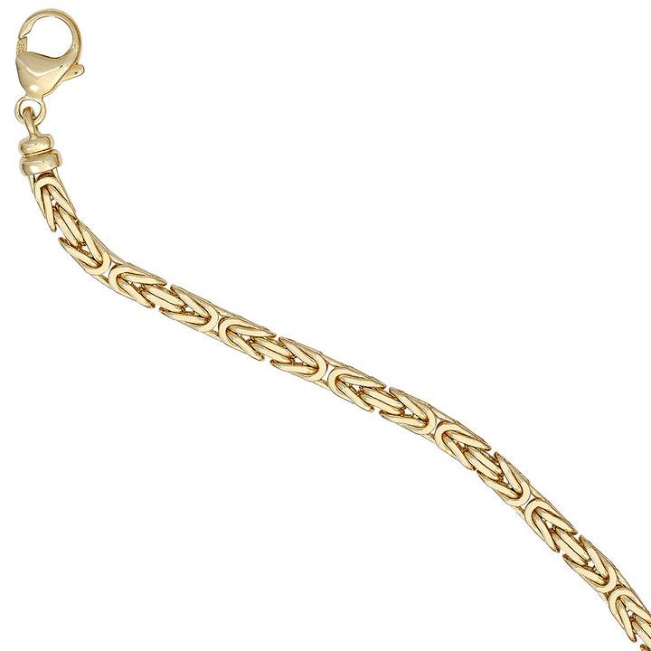 Königsarmband 585 Gold Gelbgold 19 cm Armband Goldarmband Karabiner