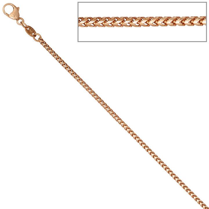 Bingokette 585 Rotgold 1,5 mm 45 cm Gold Kette Halskette Rotgoldkette Karabiner