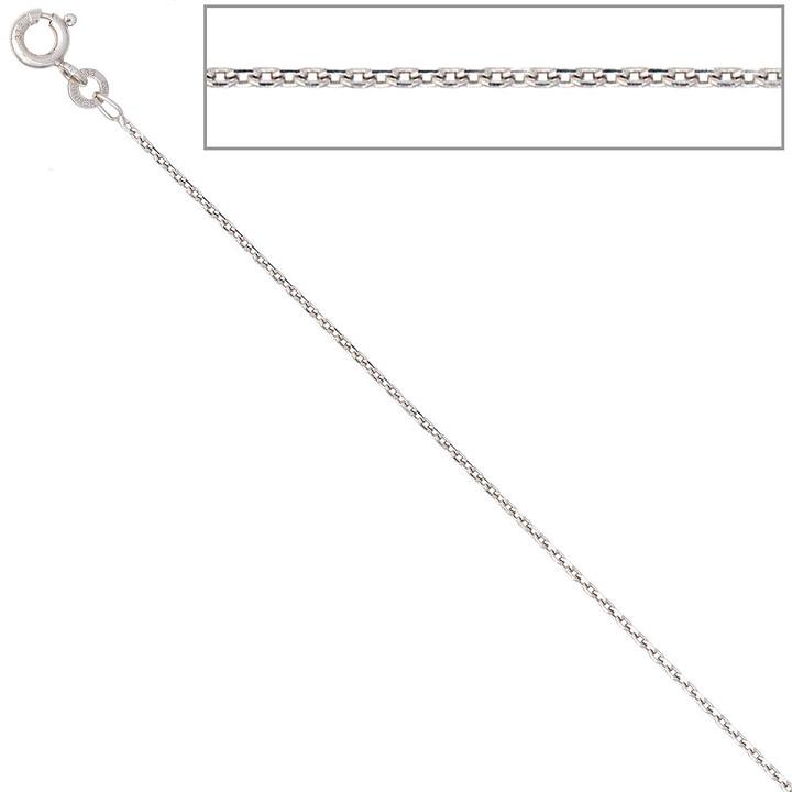 Ankerkette 333 Weißgold 1,3 mm 50 cm Gold Kette Halskette Weißgoldkette