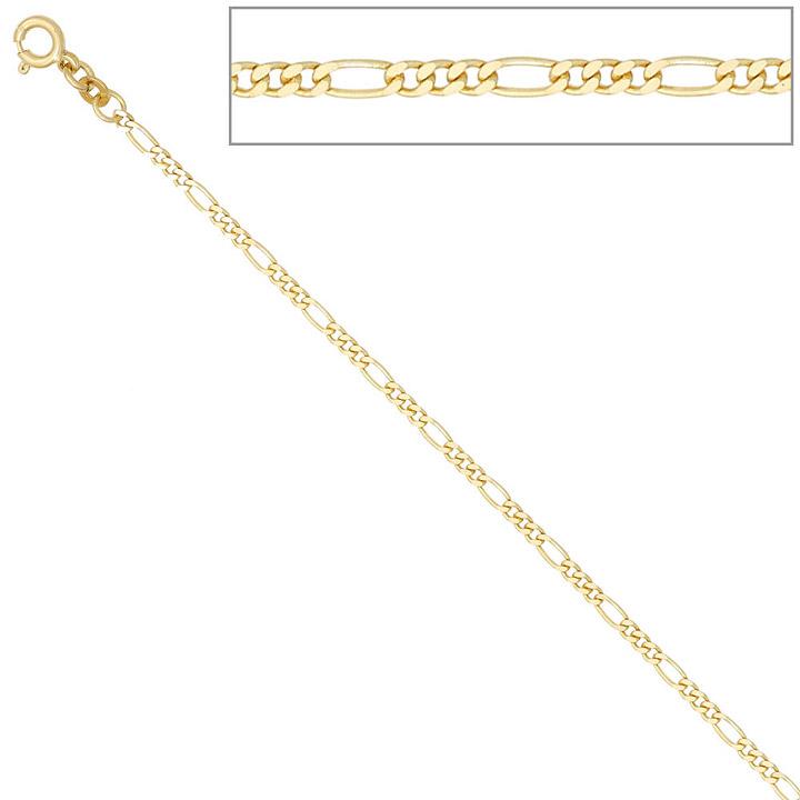 Figarokette 333 Gelbgold 2,3 mm 45 cm Gold Kette Halskette Goldkette Federring