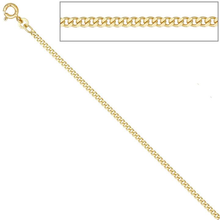 Panzerkette 585 Gelbgold 2,1 mm 60 cm Gold Kette Halskette Goldkette Federring