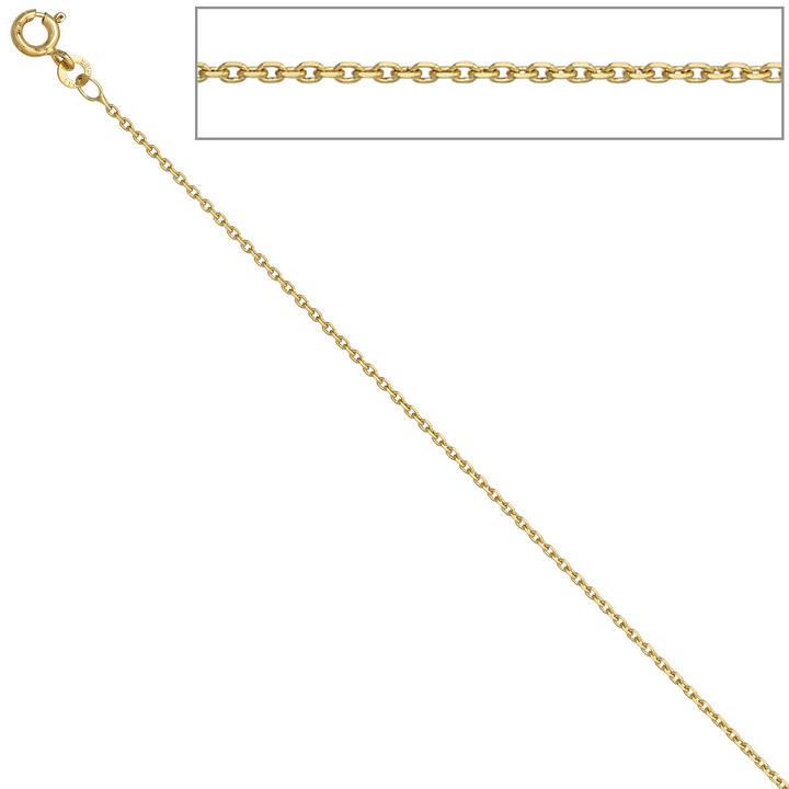 Ankerkette 333 Gelbgold 1,2 mm 38 cm Gold Kette Halskette Goldkette Federring