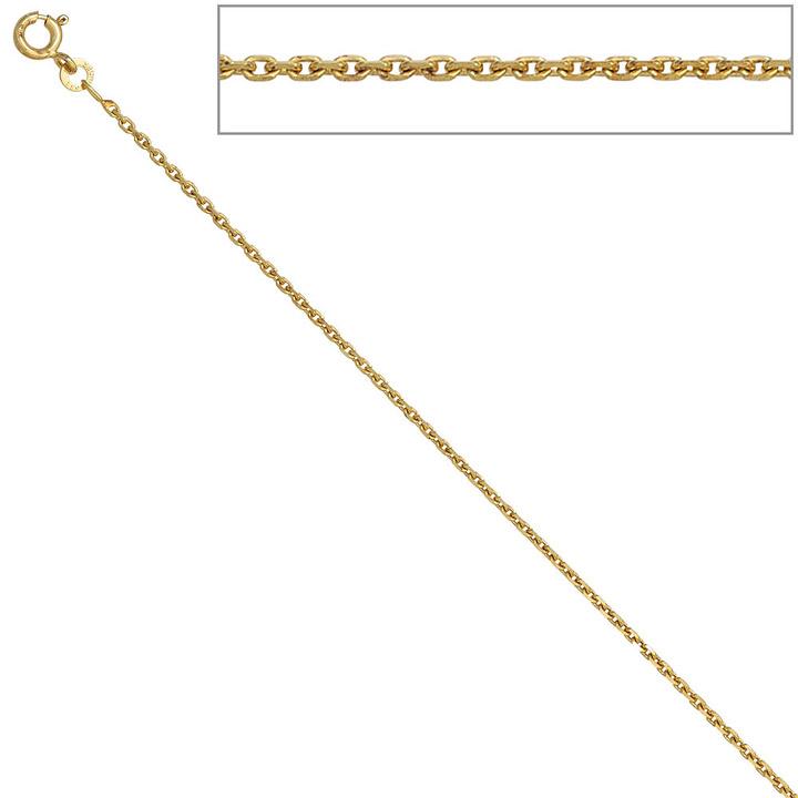 Ankerkette 333 Gelbgold 1,6 mm 40 cm Gold Kette Halskette Goldkette Federring
